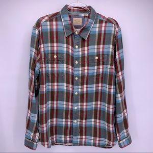 True Grit California Plaid Flannel Button Down